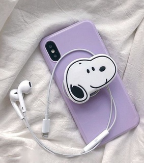 white, phone case and snoopy