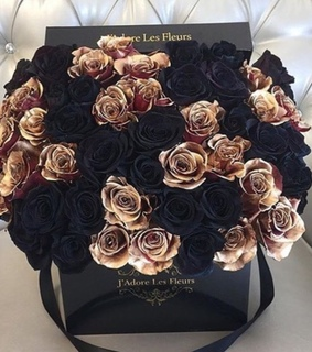 black roses, luxury and rich