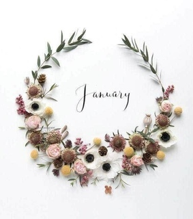 january, floral and hello 2019