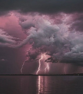 pink, aesthetic and thunderstorm