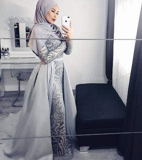 hijabista, fashion and party look