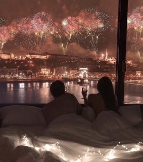 goal, new year and champagne