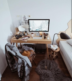 study place, aesthetic bedroom and bedroom