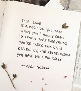 april green, relationship and with yourself