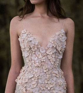 glamorous, flowers and haute couture