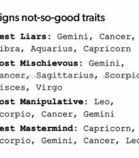 capricorn, leo and gemini