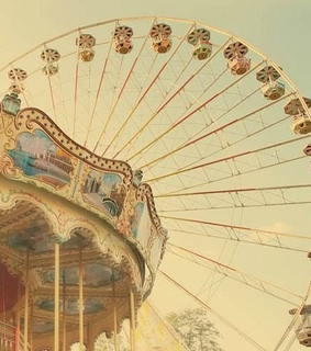 shabby, vintage and carousel