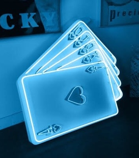 cards, blue and cool