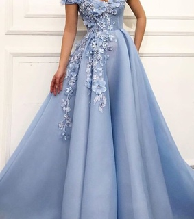 dresses, ball gown and flowers