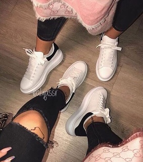 friends friendship, sneakers shoes and alexander mcqueen