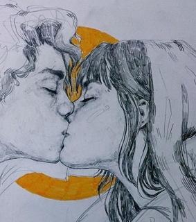 pencil, kisses and art