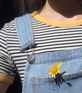 flowers, aesthetic and overalls