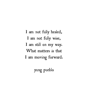past, quote and healing