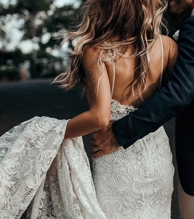 gown, couple and big day
