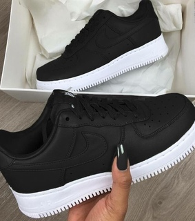 airforce1, black and sneakers