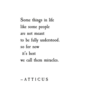 miracle, atticus poetry and poet