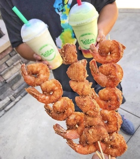 drink, yummy and shrimp