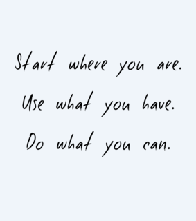 start, just do it and inspiration