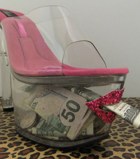 money, stripper and pink