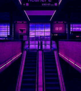 retrowave and purple