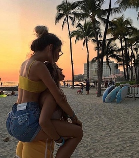 vacation, bff and girl