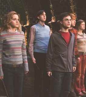 hermione, harry potter and neville