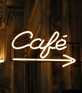 caffe, cafe and neon