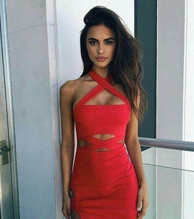 sexy girls, red dresses and fashion inspirations