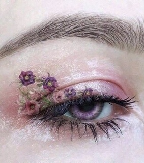 eyes, floral and eyebrows