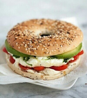 healthy food, lovefood and bagels