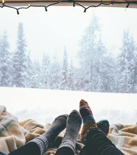 couple, happy holidays and winter