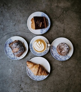 morning inspo, coffee and pastries