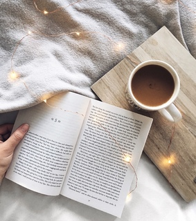 booksself, coffee and happiness