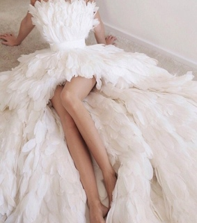 white dress, style and high fashion
