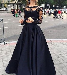 prom dresses, two pieces prom dress and prom dress with sleeves