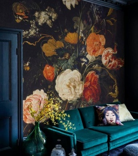 interior, vintage and floral