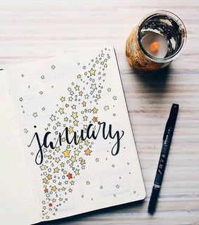 january, planner and bujoidea