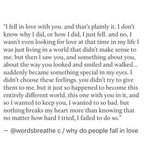 falling in love, quote and heartbroken