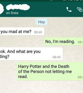 deathly hallows, harry potter and funny texts