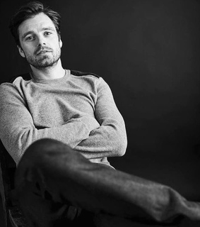 black and white, sebastian stan and photoshoot
