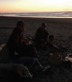 adolescence, friends and bonfire party