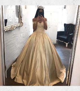 prom dress ball gown, sexy prom dress and appliques prom dress