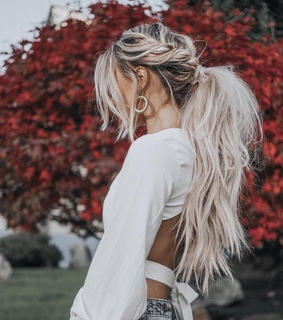 maroon, ombre hair and platinum hair
