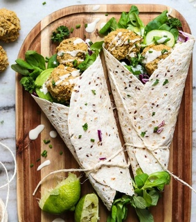 wrap, healthy inspiration and food
