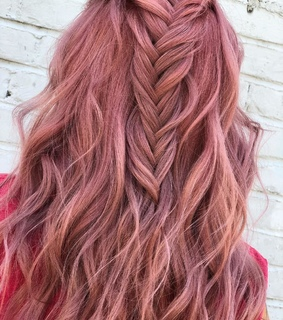 beautiful hair, cute and pink