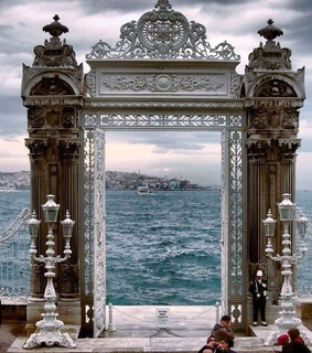arch, water and beautiful