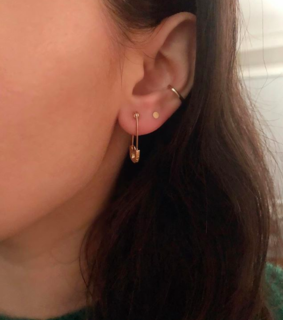 piercing, simple and delicate