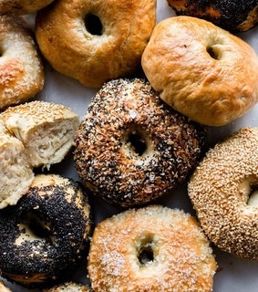 delicious, bagels and food