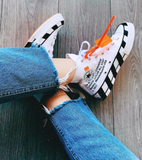 sneakers, allstar and offwhite