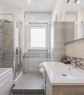 modern, wc and shower